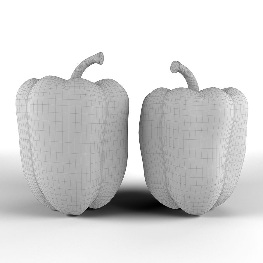 Green Pepper royalty-free 3d model - Preview no. 12