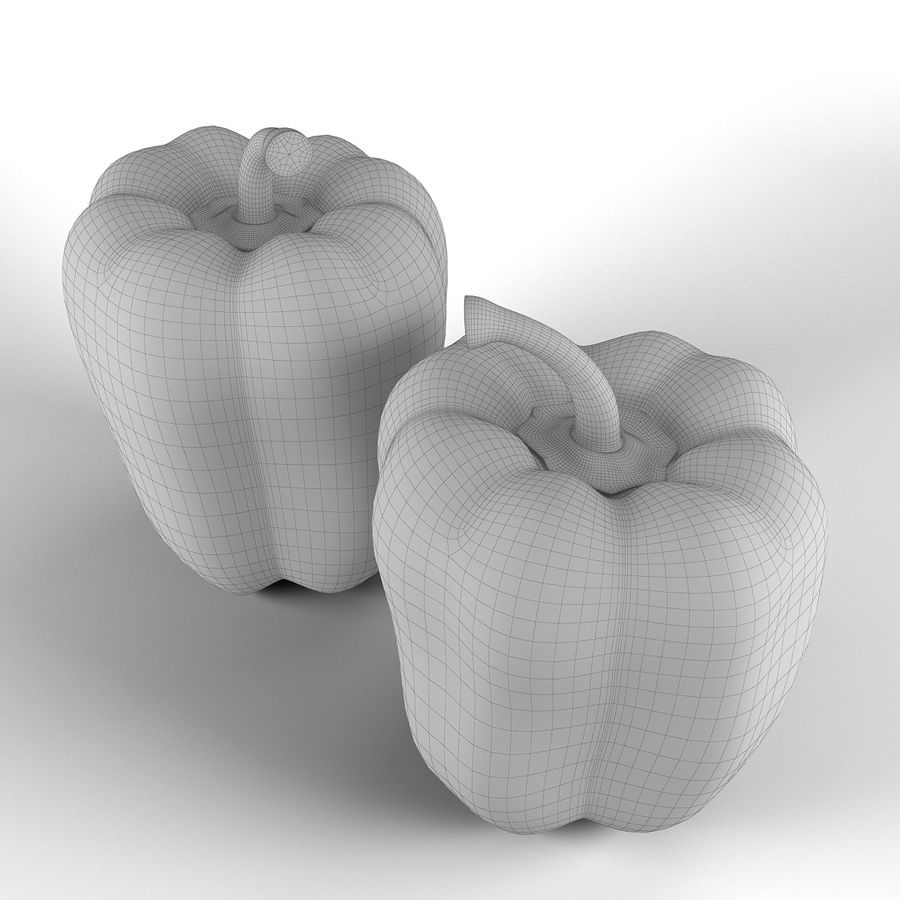 Green Pepper royalty-free 3d model - Preview no. 13