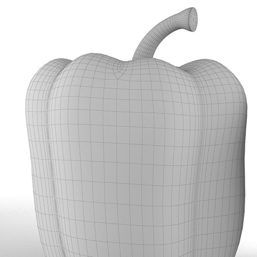 Green Pepper royalty-free 3d model - Preview no. 14