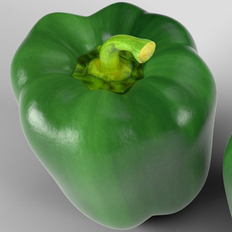 Green Pepper royalty-free 3d model - Preview no. 11