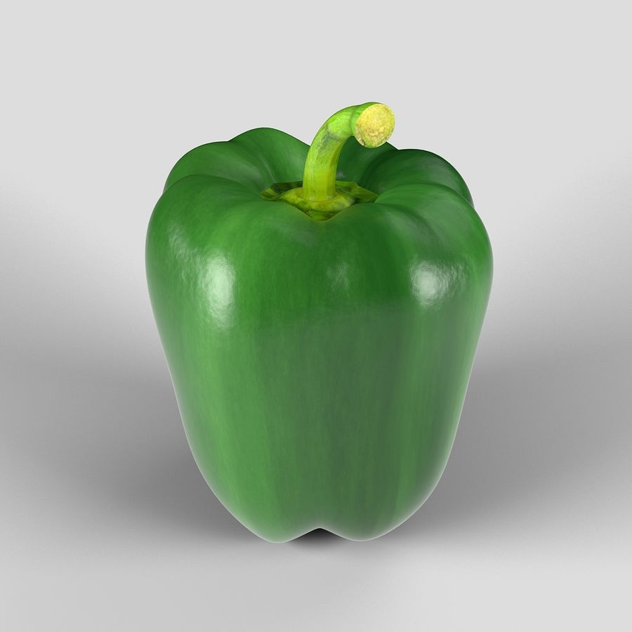 Green Pepper royalty-free 3d model - Preview no. 5