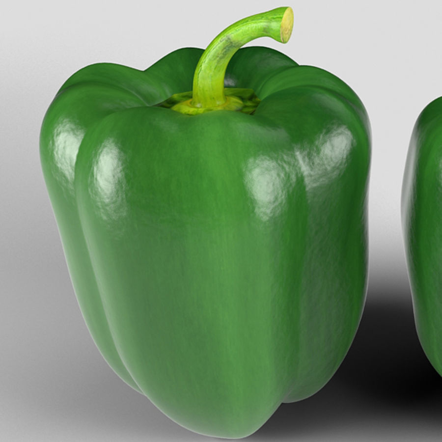 Green Pepper royalty-free 3d model - Preview no. 7