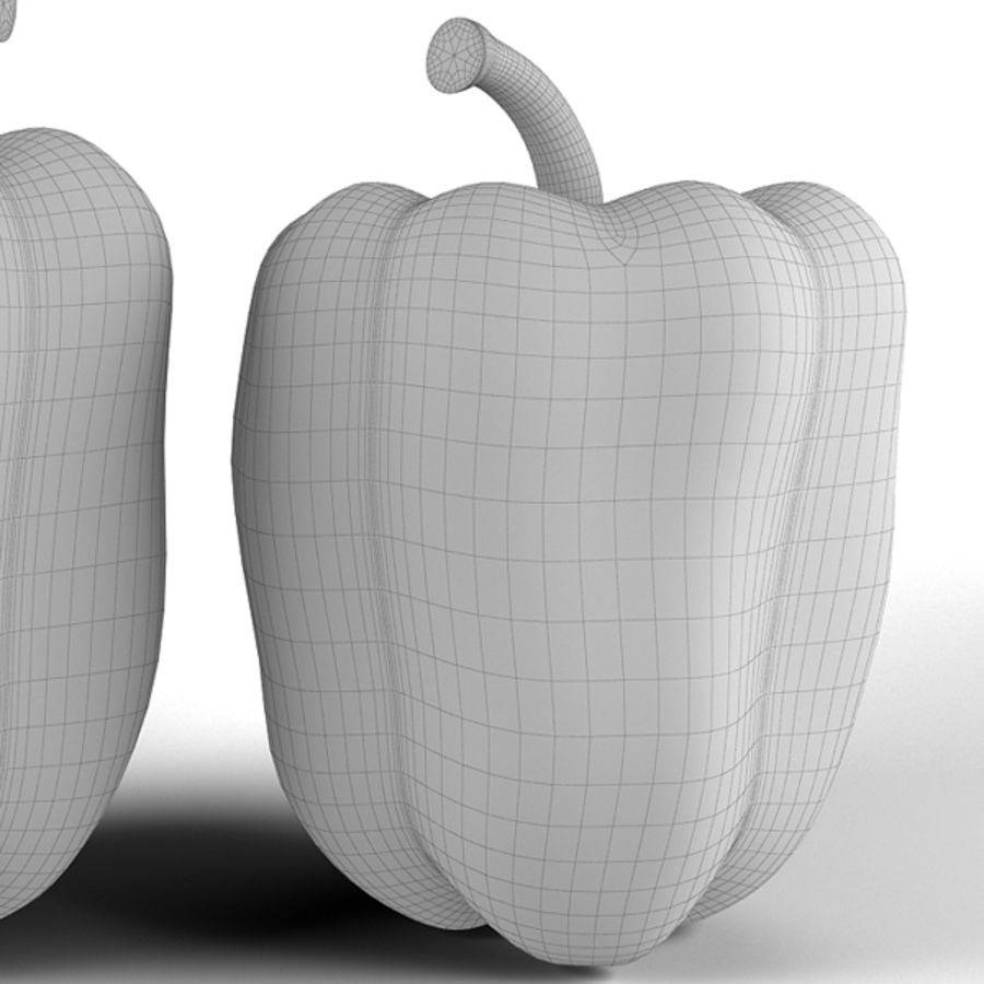 Green Pepper royalty-free 3d model - Preview no. 15