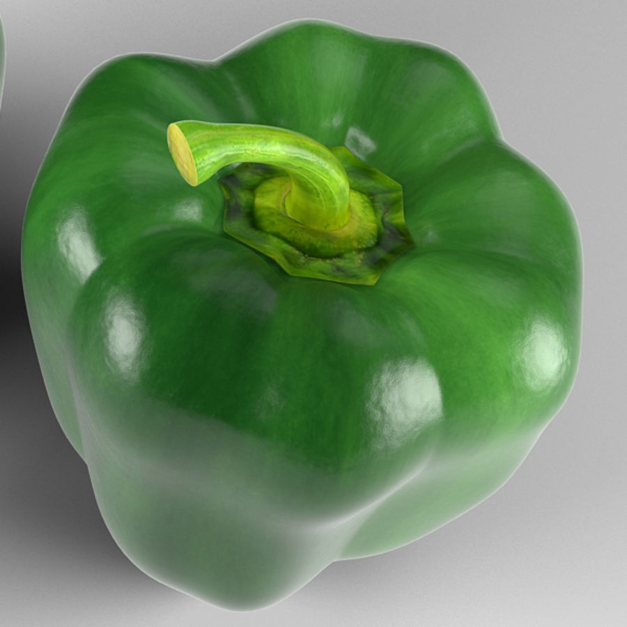 Green Pepper royalty-free 3d model - Preview no. 10