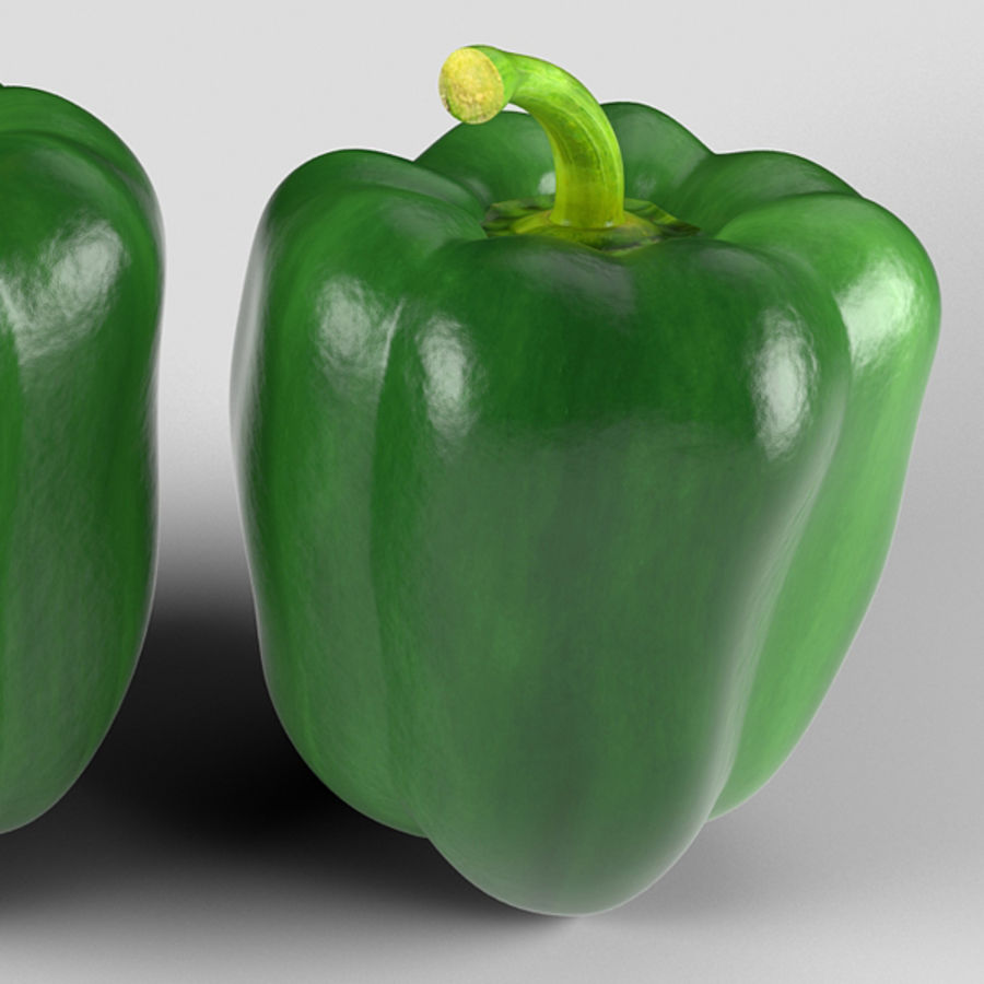 Green Pepper royalty-free 3d model - Preview no. 6