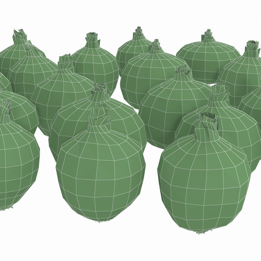 Onions royalty-free 3d model - Preview no. 11
