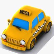 Çizgi Film Taksi 3d model