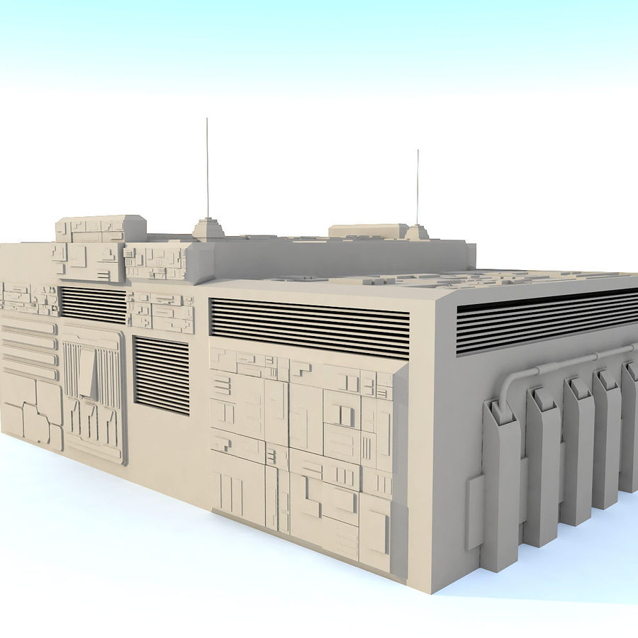 Sci fi Building E royalty-free 3d model - Preview no. 3