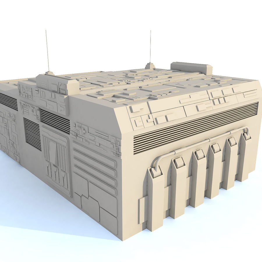 Sci fi Building E royalty-free 3d model - Preview no. 1