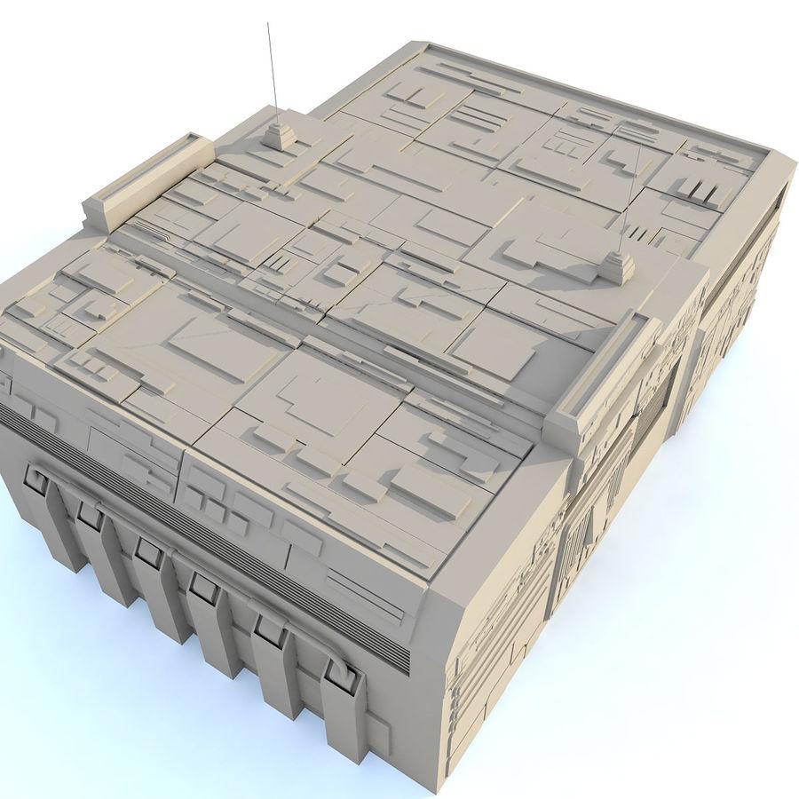 Sci fi Building E royalty-free 3d model - Preview no. 5