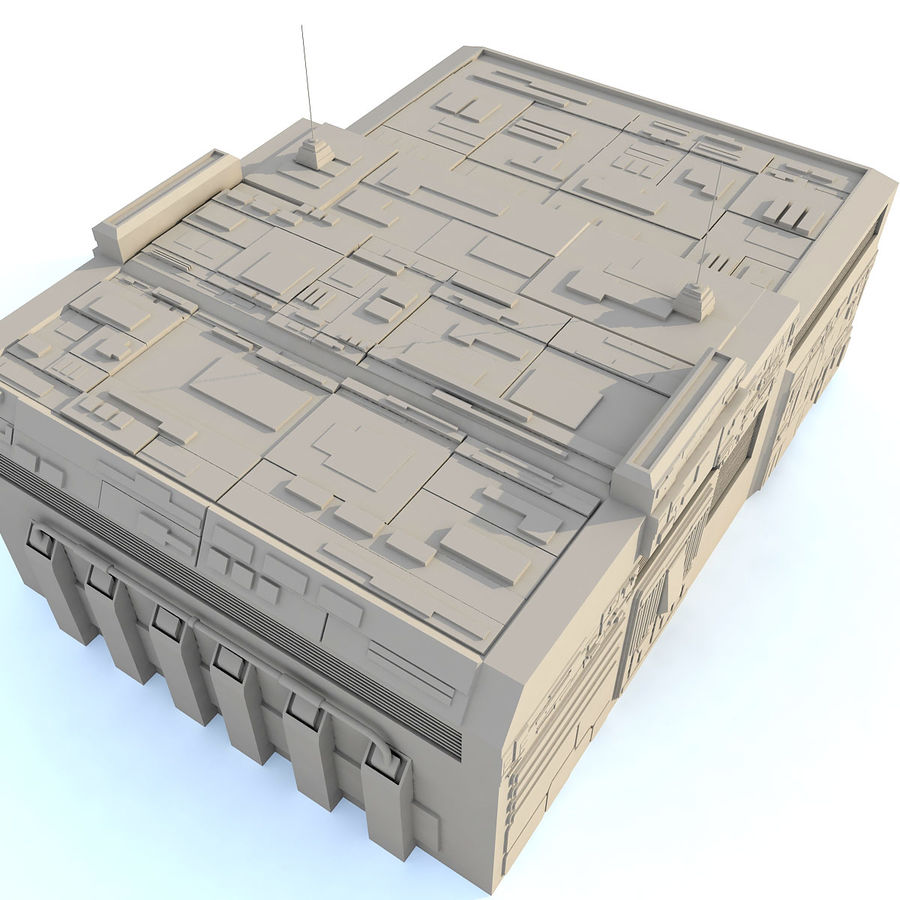 Sci fi Building E royalty-free 3d model - Preview no. 5