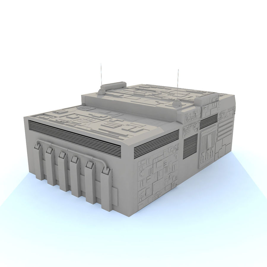 Sci fi Building E royalty-free 3d model - Preview no. 2