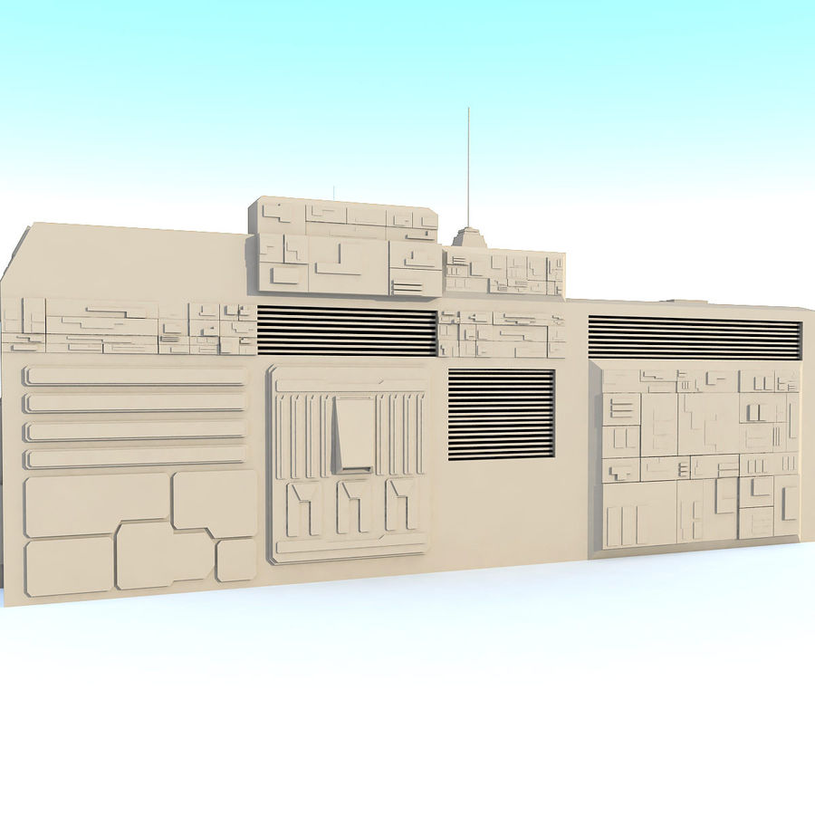 Sci fi Building E royalty-free 3d model - Preview no. 4