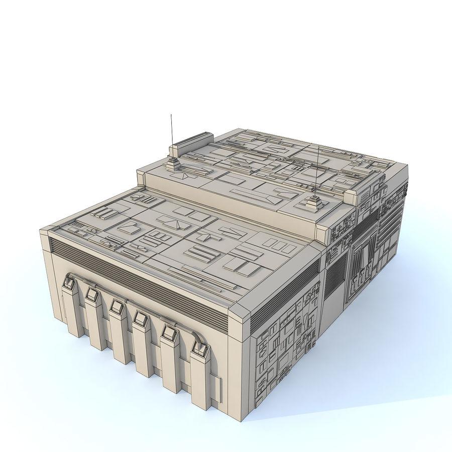Sci fi Building E royalty-free 3d model - Preview no. 7