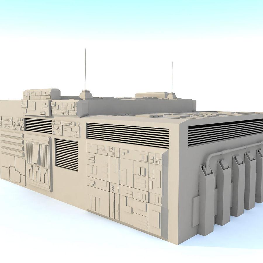Sci fi Building E royalty-free 3d model - Preview no. 3