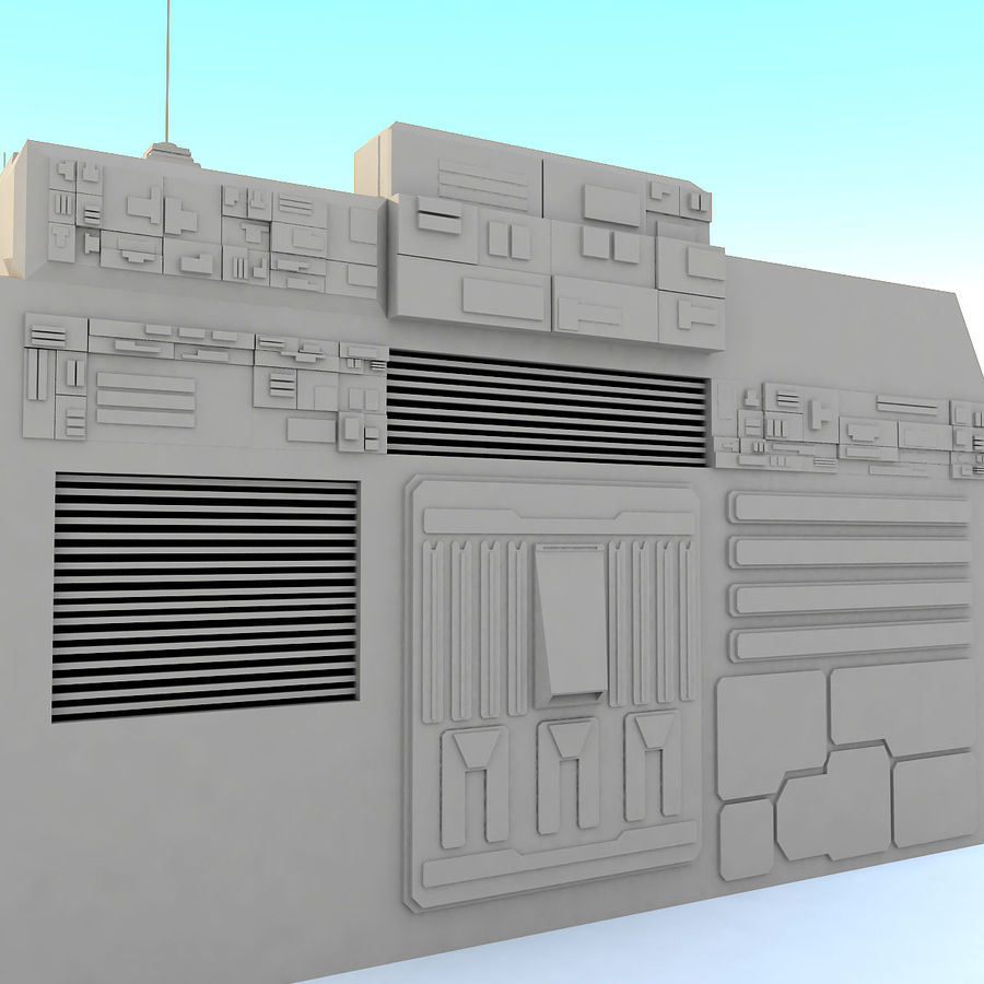 Sci fi Building E royalty-free 3d model - Preview no. 6