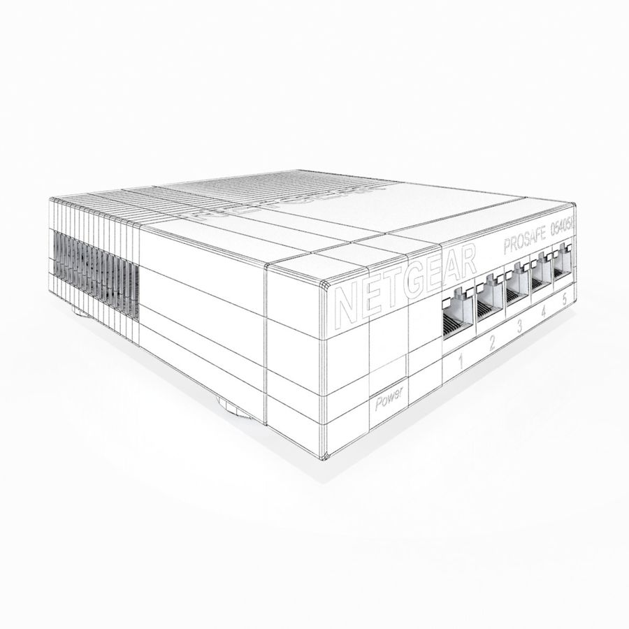 Electronic Switcher royalty-free 3d model - Preview no. 8