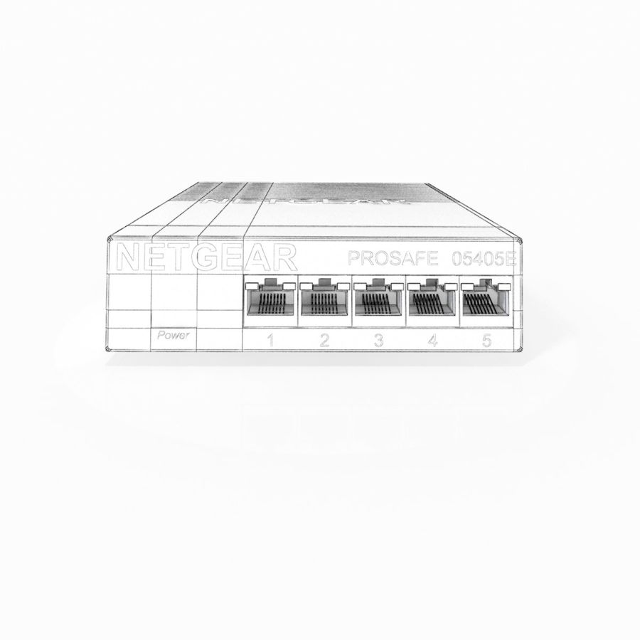 Elektronischer Umschalter royalty-free 3d model - Preview no. 9
