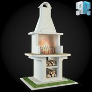 Garden Fireplace 008 3d model
