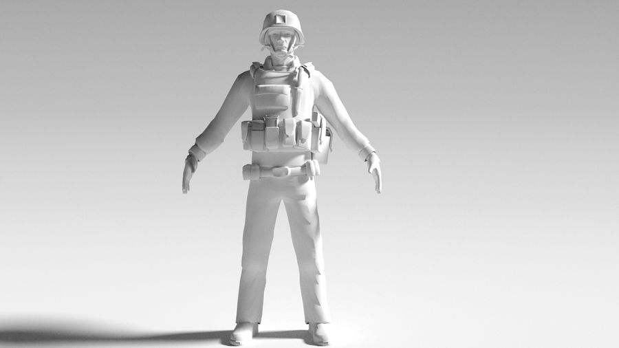 Soldier royalty-free 3d model - Preview no. 1