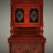 Classical antique furniture cupboard jam closet 3d model