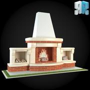Garden Fireplace 006 3d model