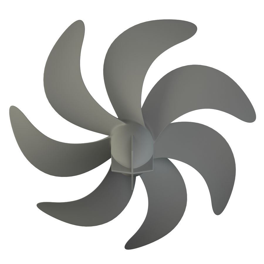 Seven Blade Marine Propeller royalty-free 3d model - Preview no. 9