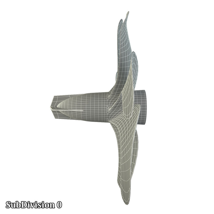 Seven Blade Marine Propeller royalty-free 3d model - Preview no. 16