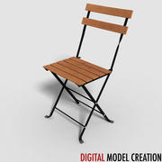 sedia da bistrot 3d model