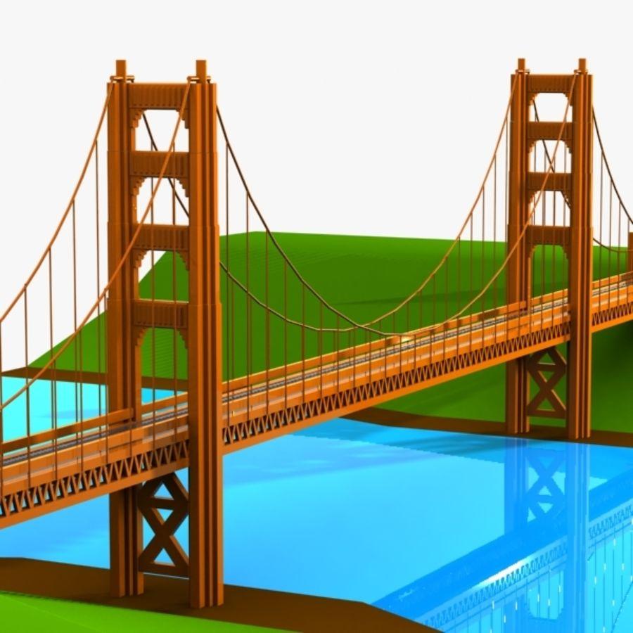 Рисунок с мостом через реку