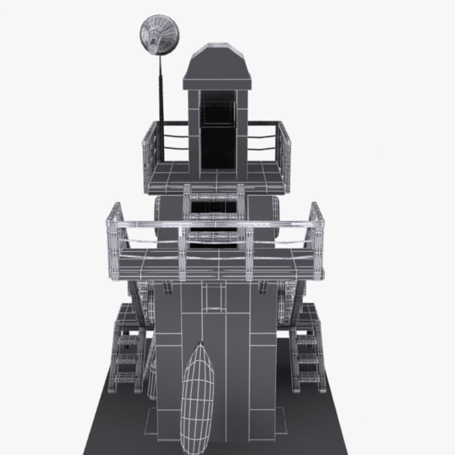卡通救生塔1 royalty-free 3d model - Preview no. 14