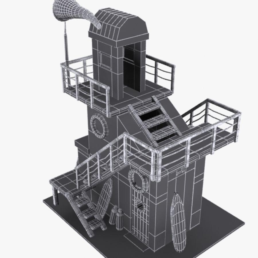 卡通救生塔1 royalty-free 3d model - Preview no. 12