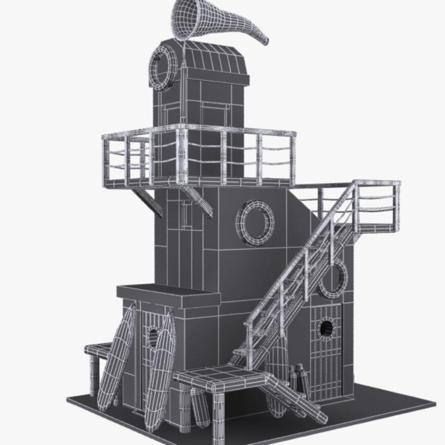 卡通救生塔1 royalty-free 3d model - Preview no. 10