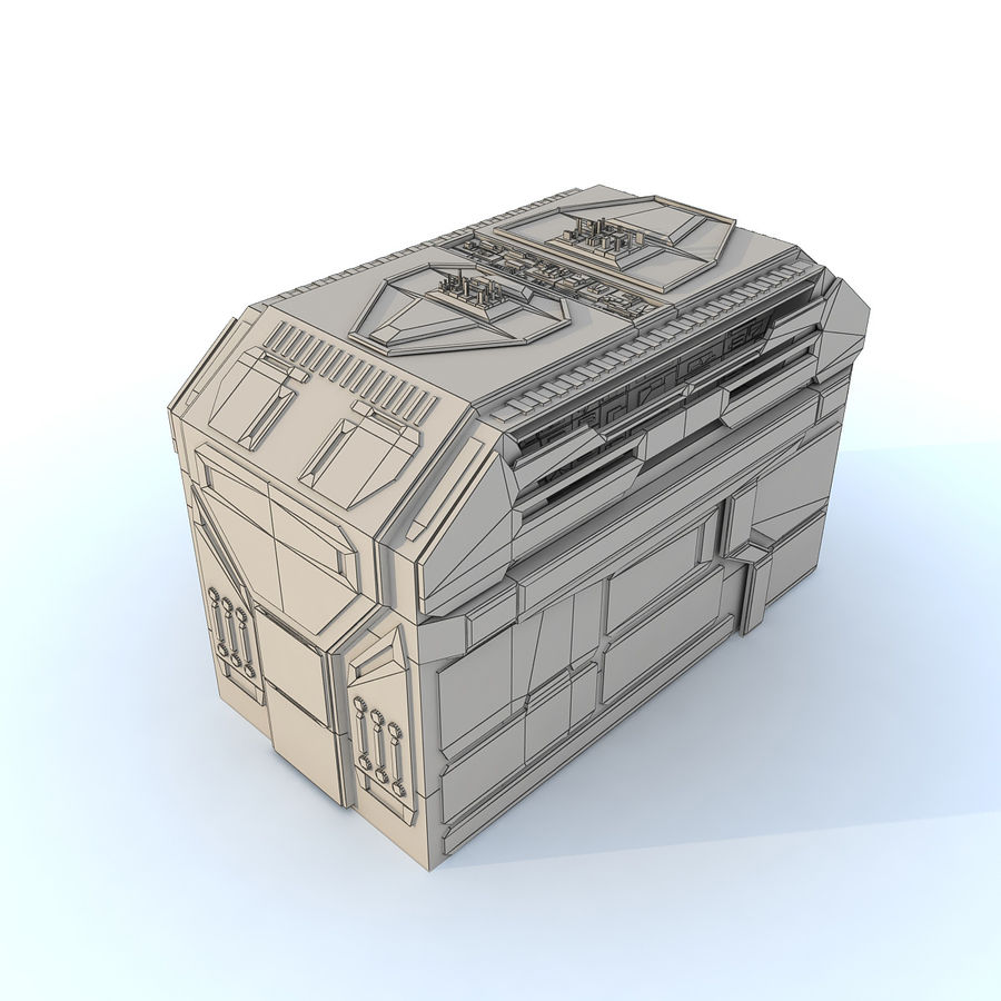 Sci fi Building H royalty-free 3d model - Preview no. 6