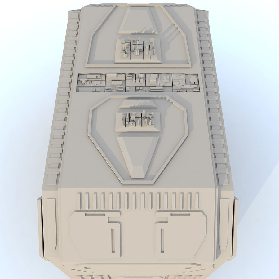 Sci fi Building H royalty-free 3d model - Preview no. 5
