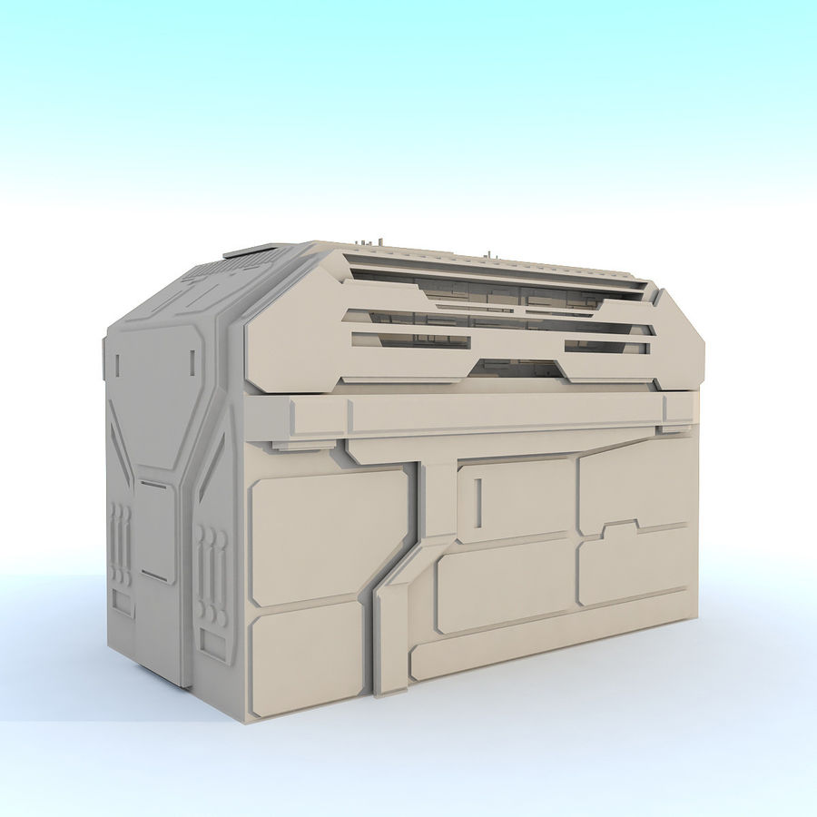 Sci fi Building H royalty-free 3d model - Preview no. 3