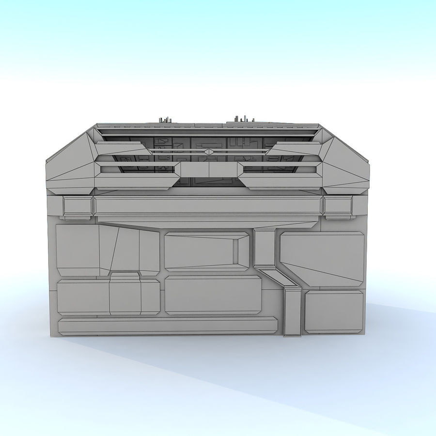 Sci fi Building H royalty-free 3d model - Preview no. 7