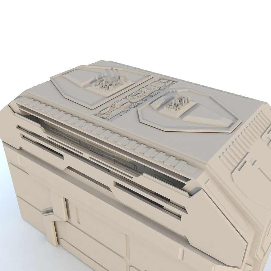 Sci fi Building H royalty-free 3d model - Preview no. 4