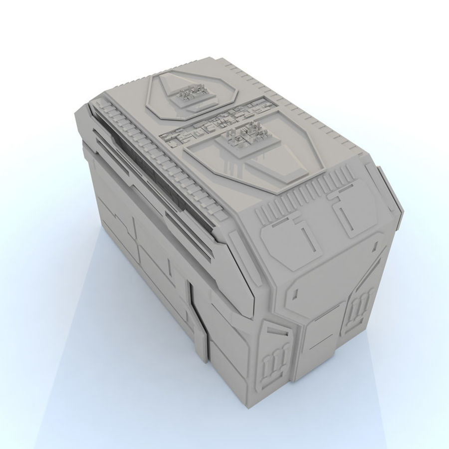 Sci fi Building H royalty-free 3d model - Preview no. 2