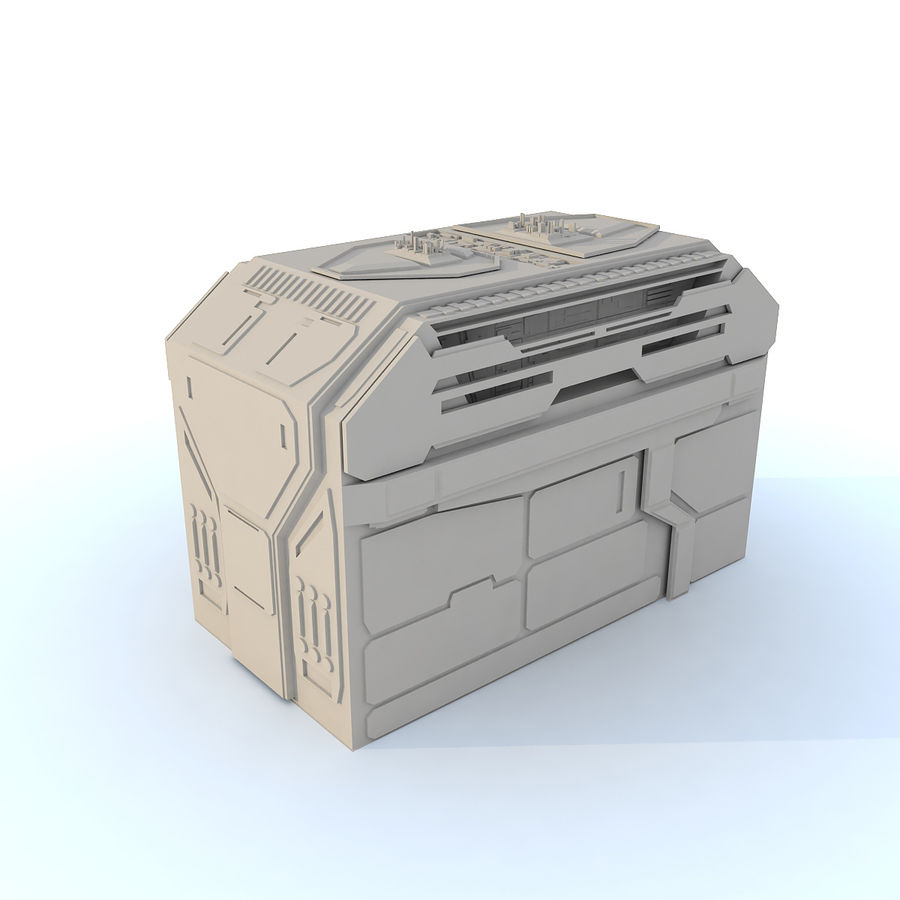 Sci fi Building H royalty-free 3d model - Preview no. 1