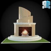 Garden Fireplace 009 3d model