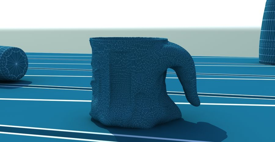 Tongue Mug royalty-free 3d model - Preview no. 4