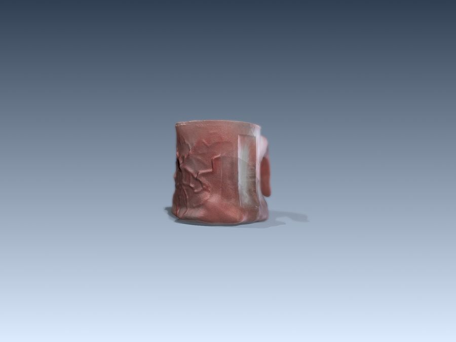 Tongue Mug royalty-free 3d model - Preview no. 3