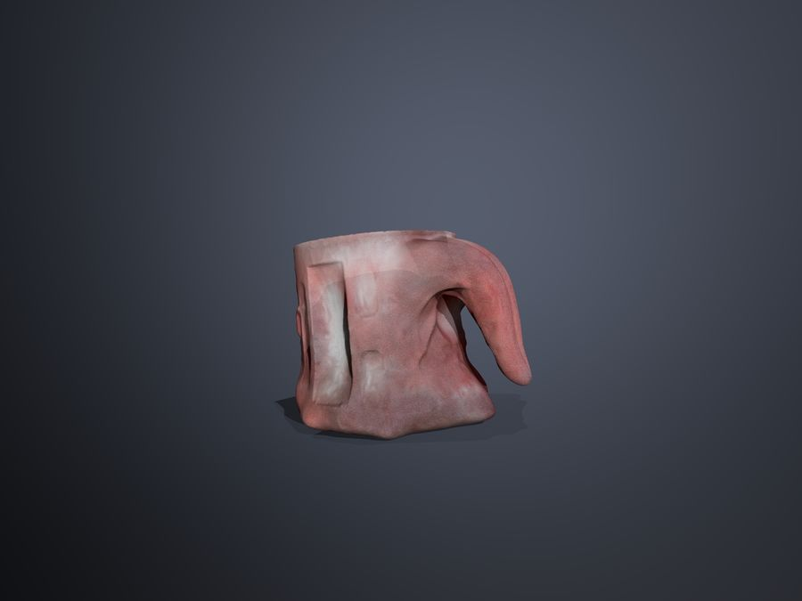 Taza de la lengua royalty-free modelo 3d - Preview no. 5