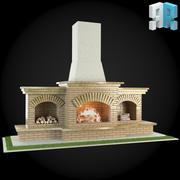 Garden Fireplace 003 3d model