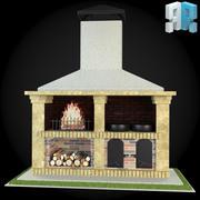 Garden Fireplace 012 3d model