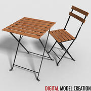 set di mobili da bistrot 3d model