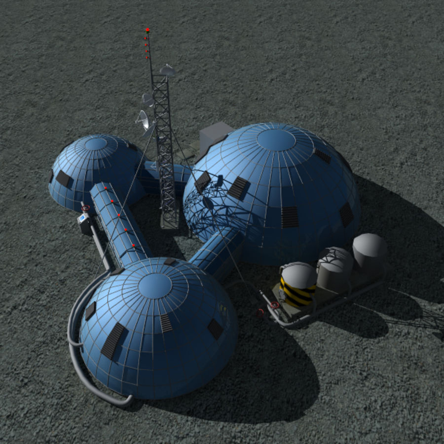 Space station royalty-free 3d model - Preview no. 3