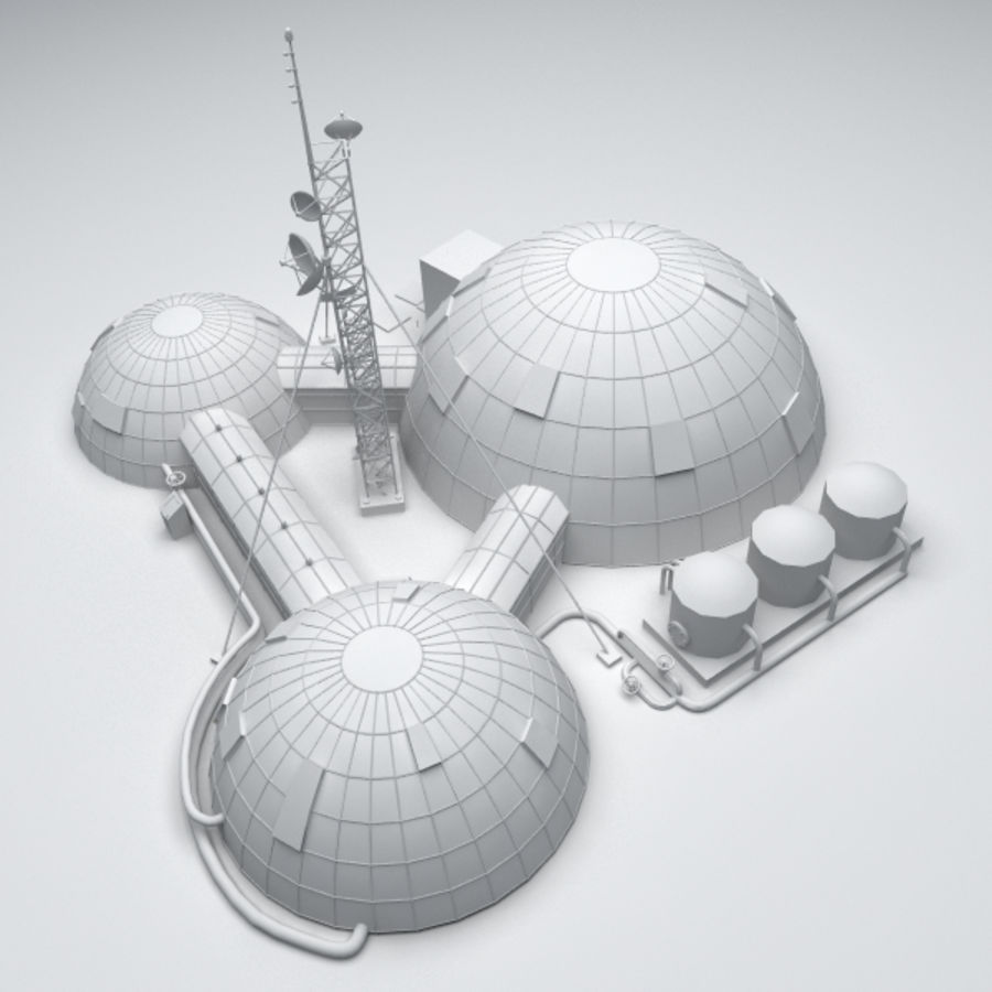 Space station royalty-free 3d model - Preview no. 7