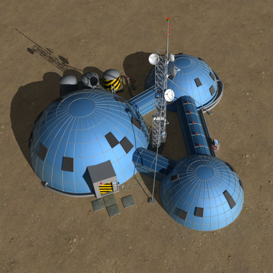 Space station royalty-free 3d model - Preview no. 5